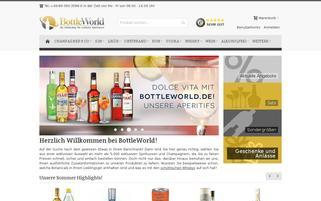 Bottleworld Webseiten Screenshot