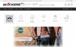 Boxxers Webseiten Screenshot