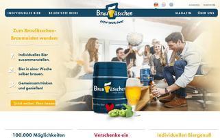 Braufässchen Webseiten Screenshot