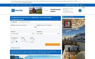 Bravofly Webseiten Screenshot