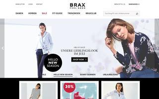 BRAX Webseiten Screenshot