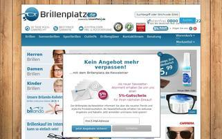 Brillenplatz Webseiten Screenshot