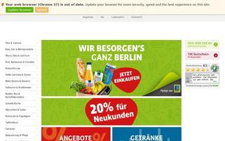 Bringmeister Webseiten Screenshot