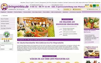 Bringmirbio Webseiten Screenshot