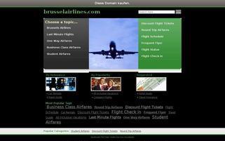 Brussel Airlines Webseiten Screenshot