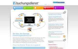 Buchungsdienst Webseiten Screenshot