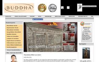 Buddha Art Lounge Webseiten Screenshot