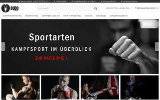 Budo Markt Webseiten Screenshot