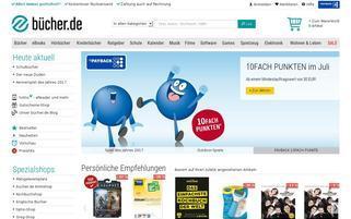 bücher.de Webseiten Screenshot