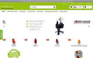 Bürostuhl Fabrikverkauf Webseiten Screenshot