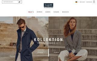 Bugatti Webseiten Screenshot