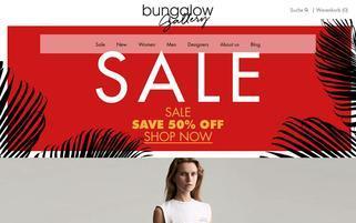 Bungalow Gallery Webseiten Screenshot