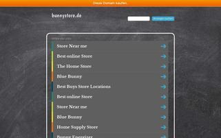 Bunnystore Webseiten Screenshot