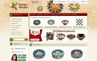Buntes Mexiko Webseiten Screenshot