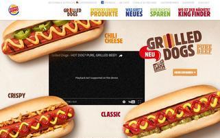Burger King Webseiten Screenshot