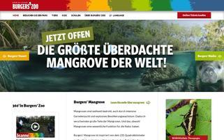 Burgers Zoo Webseiten Screenshot