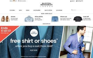 Burton Webseiten Screenshot