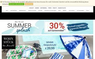 Butlers Österreich Webseiten Screenshot