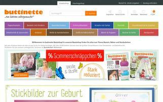 Buttinette Webseiten Screenshot