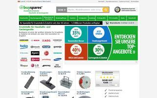 BuySpares Webseiten Screenshot