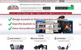 buyZOXS Webseiten Screenshot