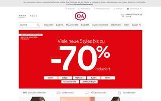 C&A Österreich Webseiten Screenshot