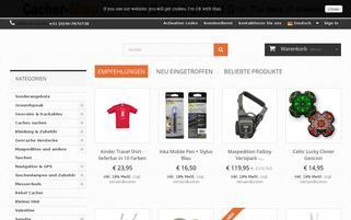Cacher Shop Webseiten Screenshot