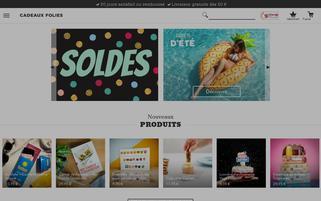 cadeauxfolies.fr Webseiten Screenshot