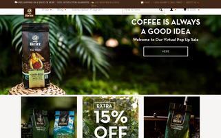 Cafe Britt Webseiten Screenshot