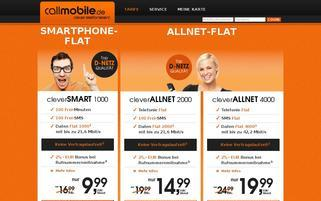 Callmobile Webseiten Screenshot