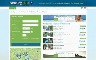 campingitalia Webseiten Screenshot
