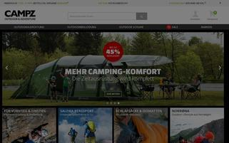 Campz Webseiten Screenshot