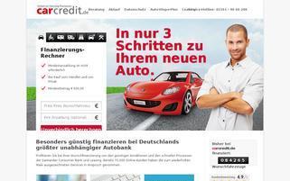 carcredit Webseiten Screenshot