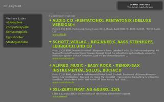 CD-Keys.at Webseiten Screenshot