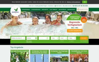 centerparcs.de Webseiten Screenshot