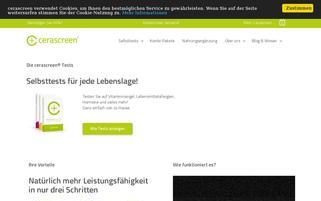 cerascreen.de Webseiten Screenshot