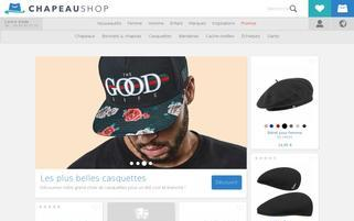 chapeaushop.fr Webseiten Screenshot