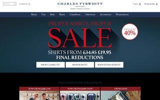Charles Tyrwhitt Webseiten Screenshot