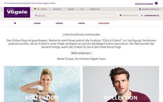Charles Vögele Webseiten Screenshot