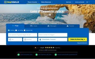 Cheaptickets.ch Webseiten Screenshot