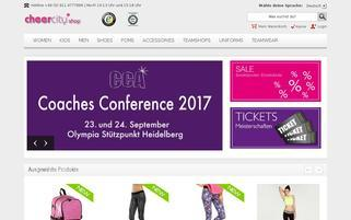 Cheercity Webseiten Screenshot