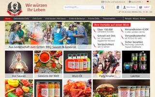 Chili Food Webseiten Screenshot