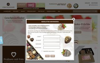 Chocolissimo Webseiten Screenshot