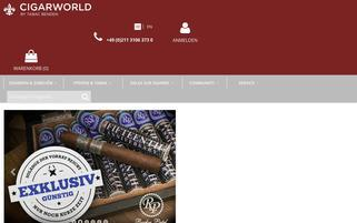 Cigarworld Webseiten Screenshot