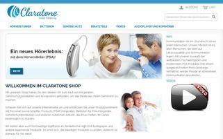 Claratone Webseiten Screenshot