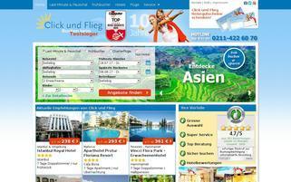 clickundflieg.com Webseiten Screenshot