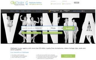 ClipDealer Webseiten Screenshot
