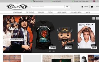 Close Up Webseiten Screenshot