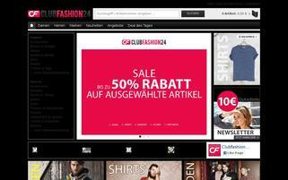 ClubFashion24 Webseiten Screenshot