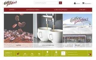 Coffee-Perfect Webseiten Screenshot